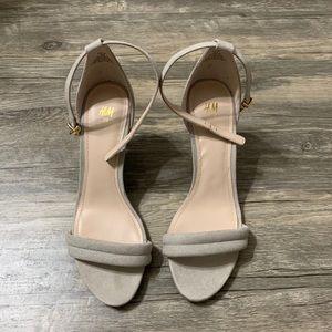 Ankle strap open toe heels